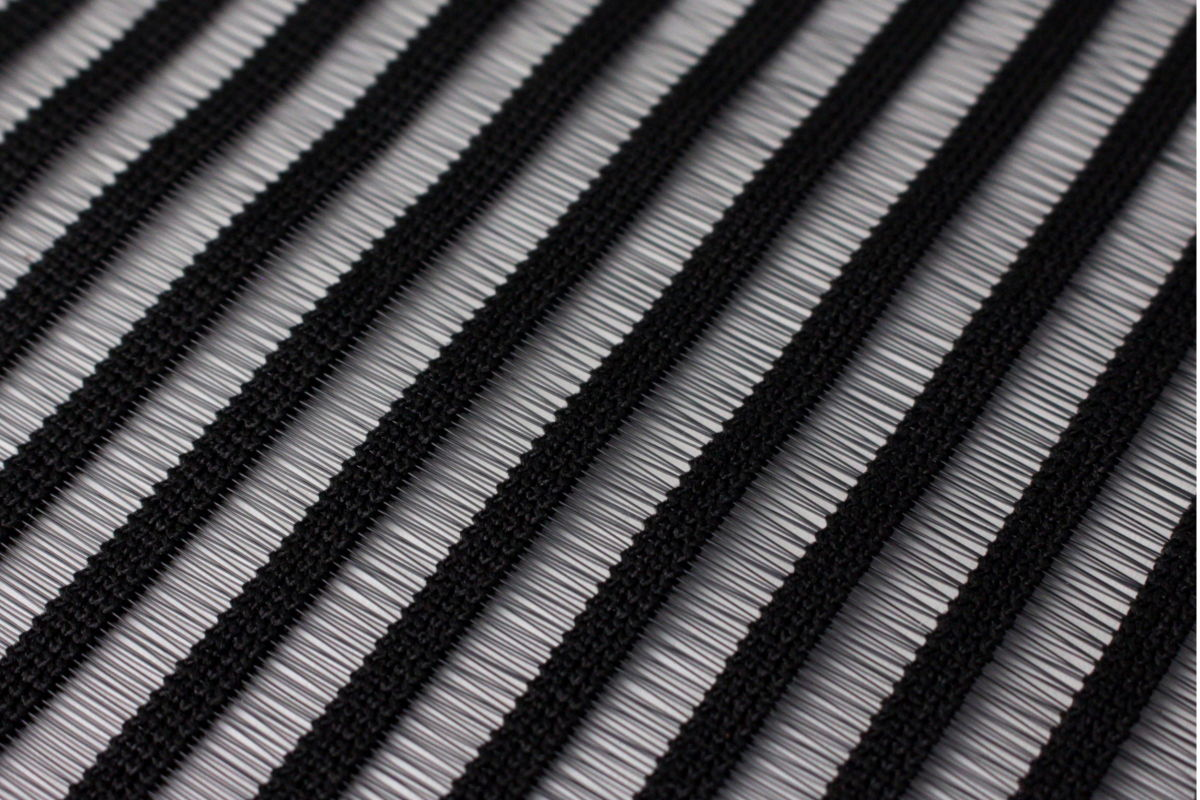 [KiiPER SLIDE] Netz 575 mm, schwarz liniert - 300 mm